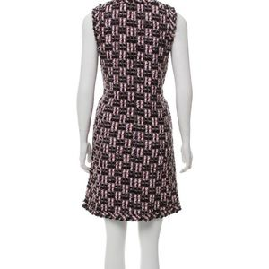 Oscar de la Renta knit/tweed mini dress